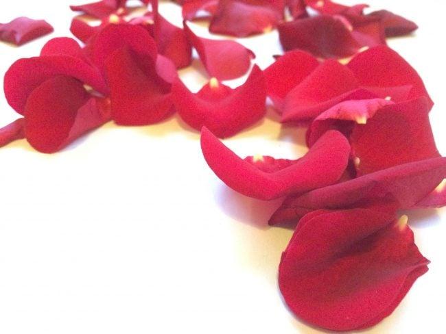 Rosenblätter als Dekoration