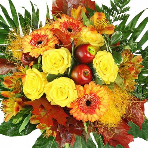 Etwas Neues genug Premium Herbst Blumenstrauß - Herbstsonne - Rosenbote @YW_19