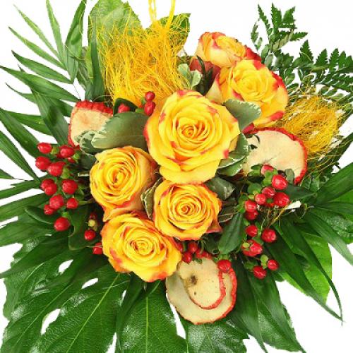 Fabelhaft Herbst Blumenstrauß - Herbstlicher Blumengruß - Rosenbote #ZI_59