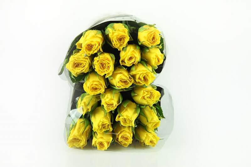 20 Gelbe Rosen - Medium