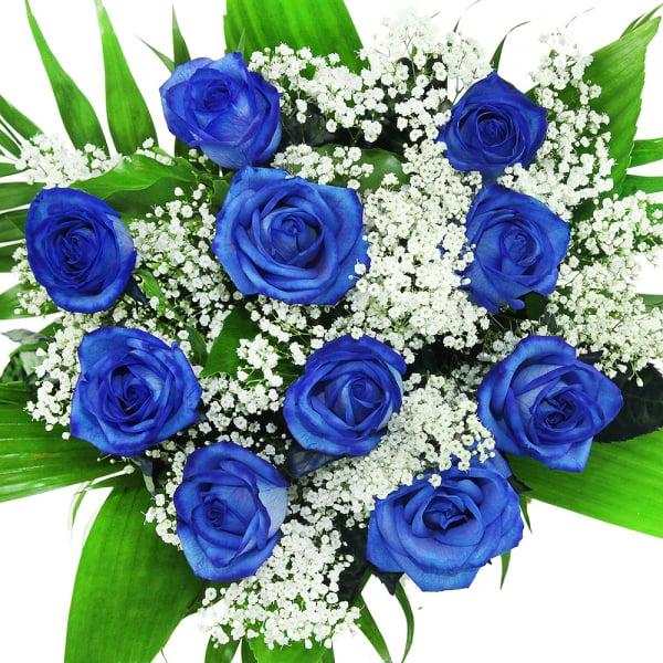 blumenstrau blaue blumen rosen rosenbote. Black Bedroom Furniture Sets. Home Design Ideas