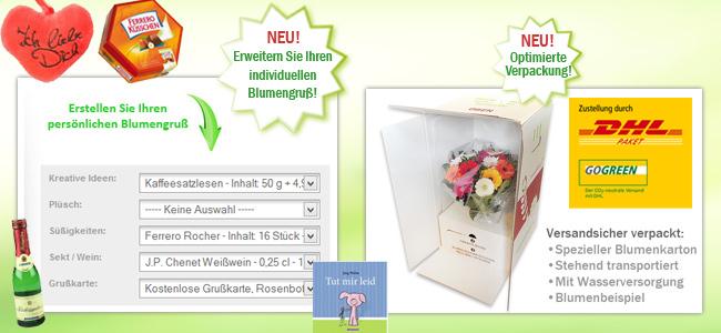 Geschenke mit Blumen!