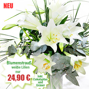 Weißer Lilienstrauß